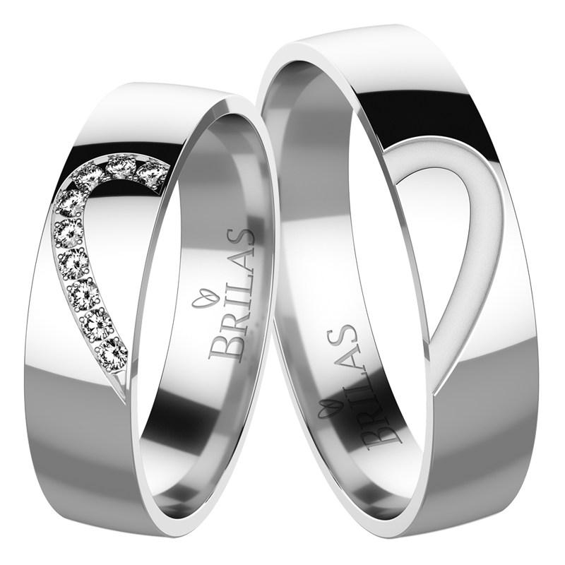 94b814eec Constanza Silver - strieborné svadobné snubné obrúčky | BRILAS